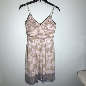 Max and Cleo NWT Champage Silk Dress Size 8P